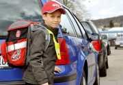 Kind auf Schulweg