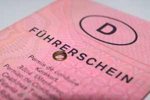 Führerschein Ausschnitt