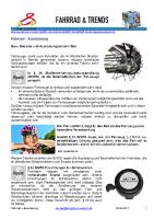 Fahrrad – Ausrüstung