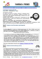 Fahrrad – unterwegs mit dem Fahrrad und dem Pedelec