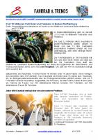 Fahrräder inkl. Pedelecs – Bestand in Baden-Württemberg