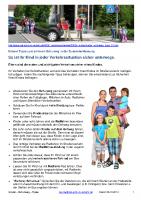 Info Kinder Schulweg-Tipps