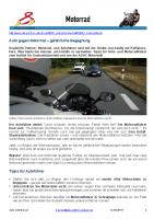 Motorrad vs. Auto – ein ungleiches Duell