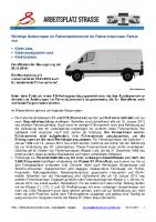 Fahrerlaubnis für Fahrerinnen und Fahrer von Klein-LKW, -transporter, -busse