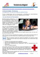 Verkehrstüchtigkeit / Fahreignung / Fahrtauglichkeit