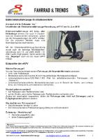 Info zur Elektro-Kleinstfahrzeugeverordnung