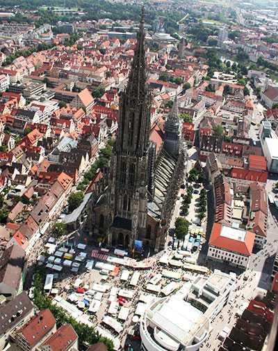 Luftaufnahme Ulm Münsterplatz