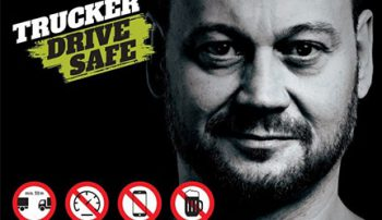 Trucker drive safe