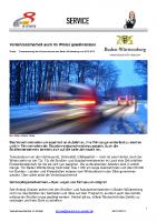 Pressemitteilung Verkehrssicherheit im Winter