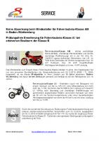 Neues vom Fahrerlaubnisrecht für Krafträder