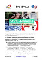 StVO-Novelle Kurzform